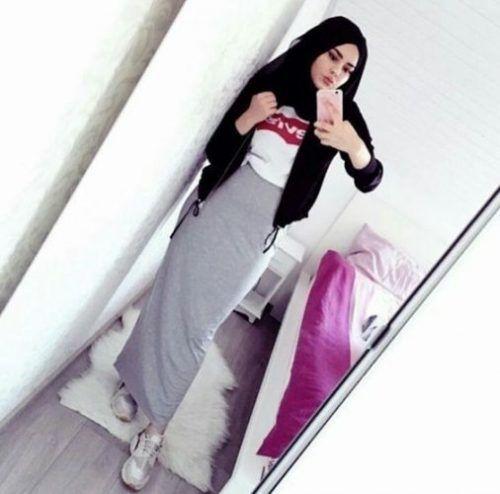 Pencil skirt with hijab-How to wear cute hijab in Ramadan – Just Trendy Girls