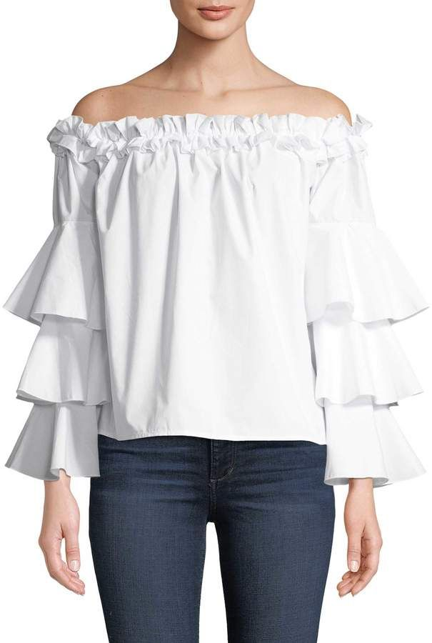 Summer Outfits-  Women's Frill Blouse