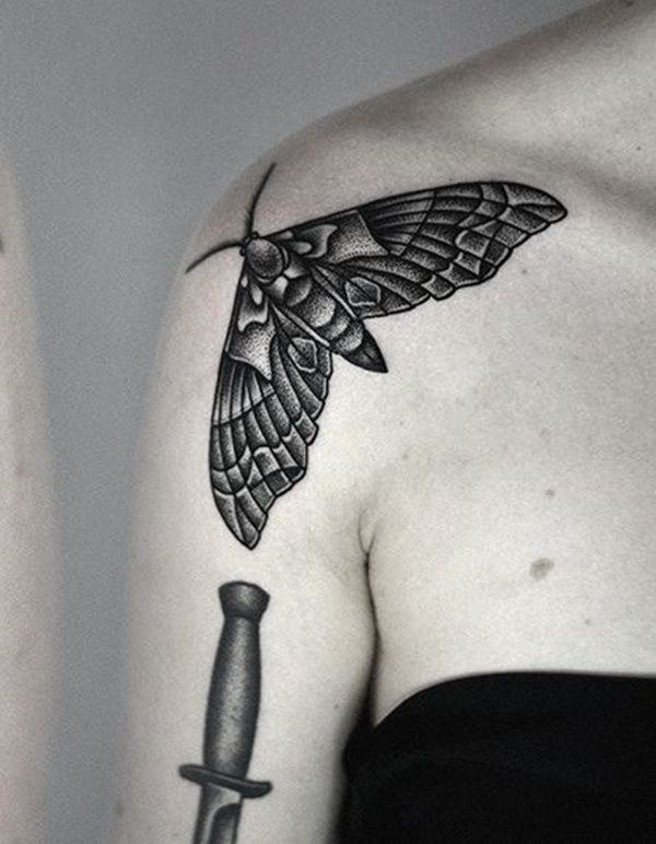 150 shoulder tattoos moth meaning moth tattoo meaning tattoo meanings ...