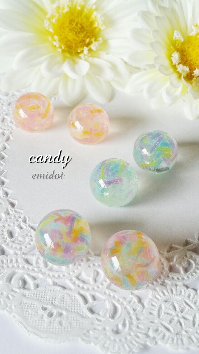 ハンドメイドマーケット minne(ミンネ)  *再・再販* candy☆イヤリング