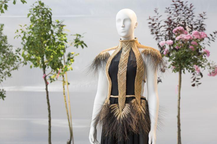 Fashion designer Linda Friesen and wheat weaver Ingrid Reinhoud made this corset for Fashionclash and Nederlandse Dansdagen 2014.
