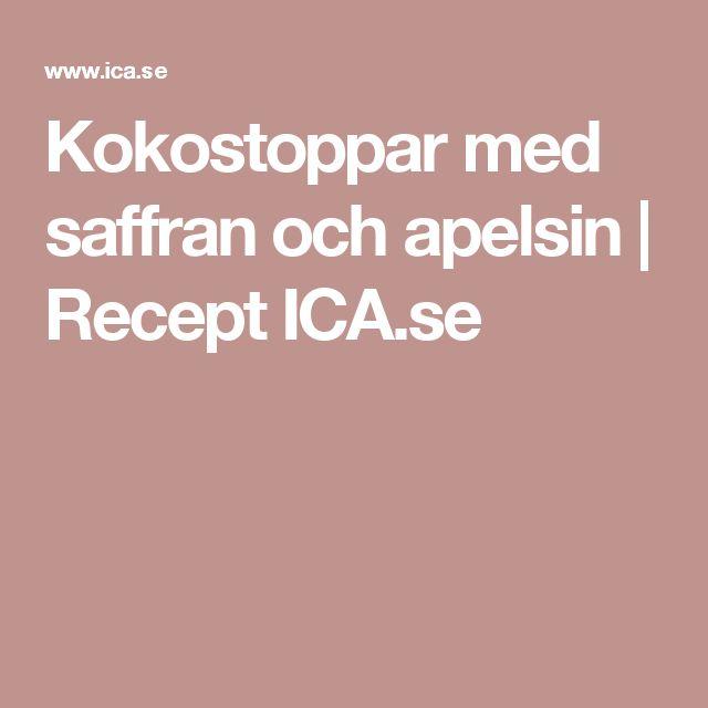 Kokostoppar med saffran och apelsin | Recept ICA.se