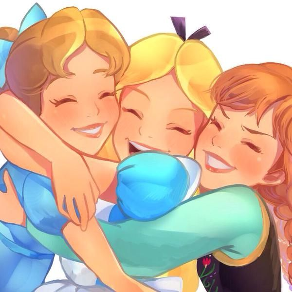 Wendy Darling, Alice Kingsley, and Princess Anna of Arendale! Cute little trio!!