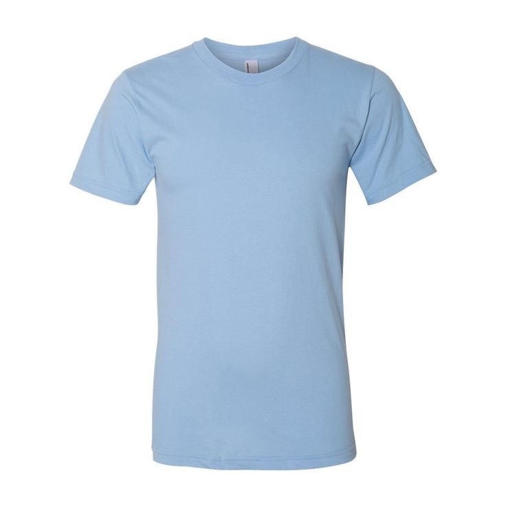 American Apparel Unisex Baby Blue Fine Jersey Short Sleeve T-Shirt