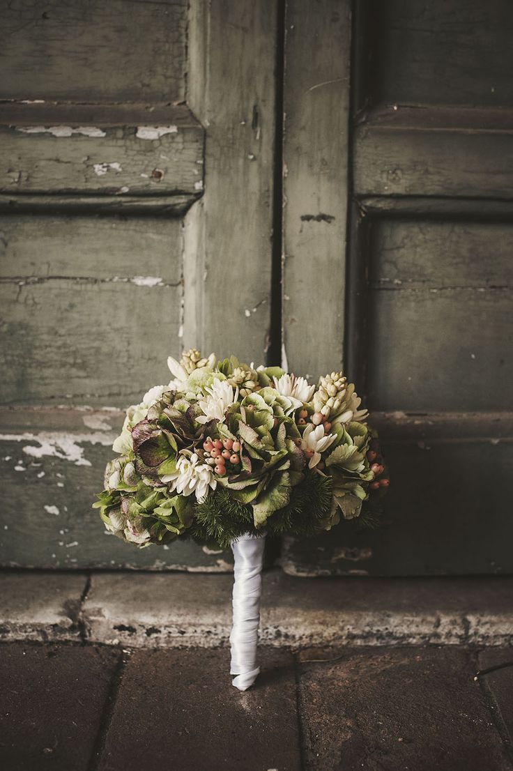 Details from a wedding. The bridal bouquet