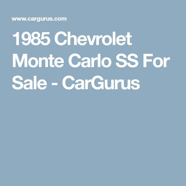 1985 Chevrolet Monte Carlo SS For Sale - CarGurus