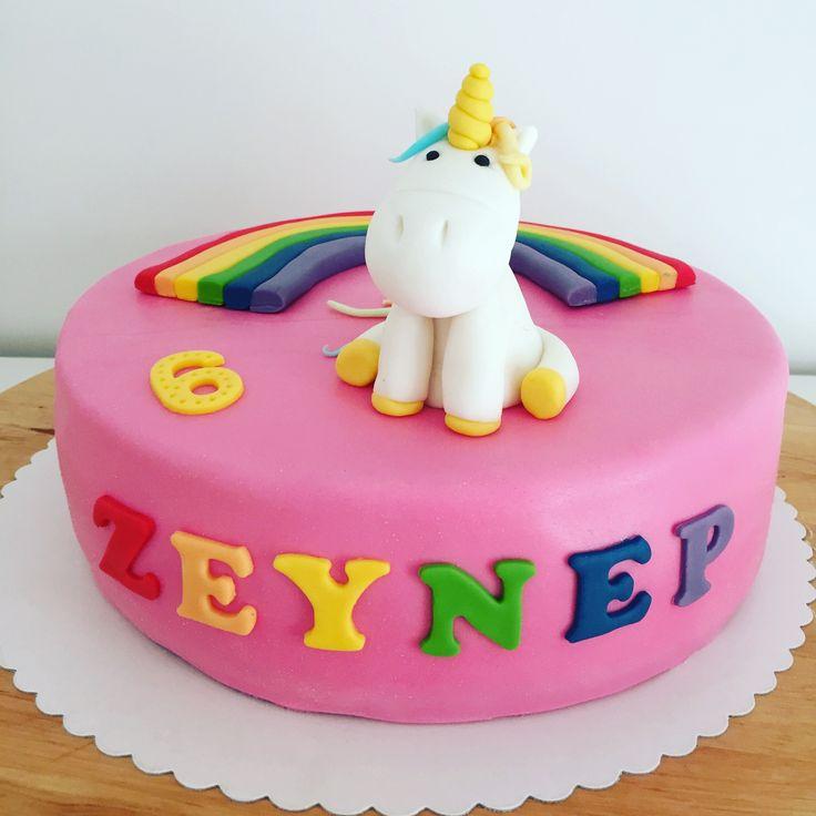 Eenhoorn taart Unicorn cake Einhorn Torte