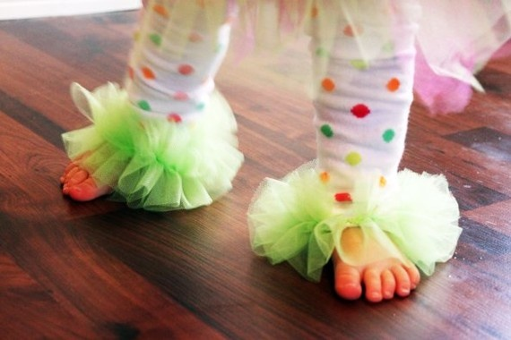 Leg Warmers with Tulle Poof RuffleBaby Infant Girl by Lilypotamus, $13.50