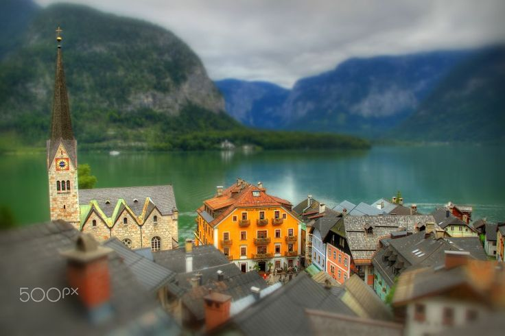 Hallstatt Tilt-Shift by Paweł Kijak on 500px