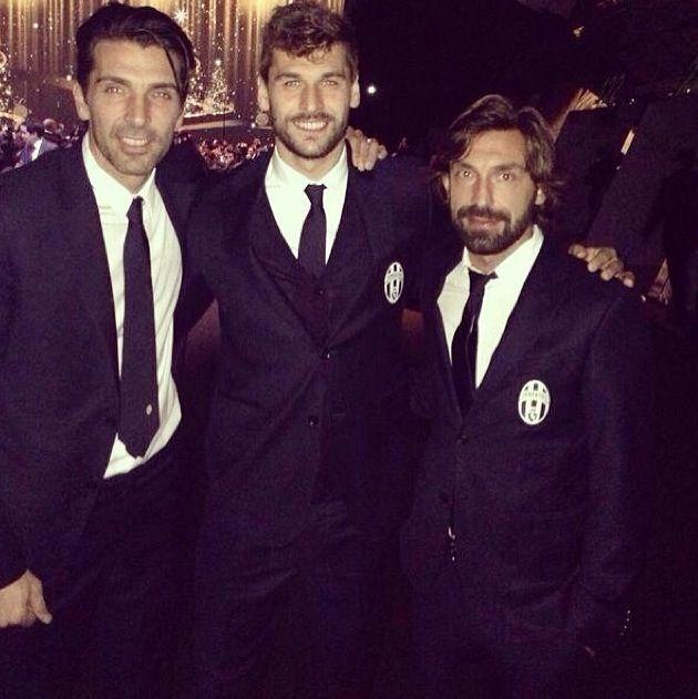 Llorente, Andrea Pirlo and Gigi Buffon Juventus