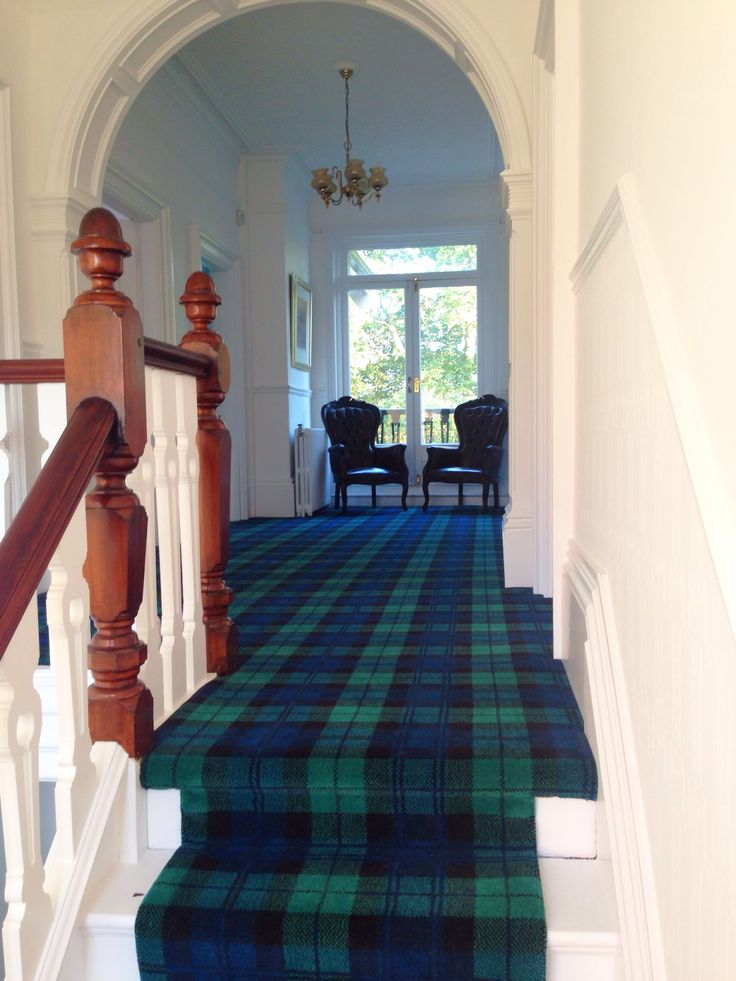 Tartan Carpet Tartan Stair Runner Black Watch Tartan