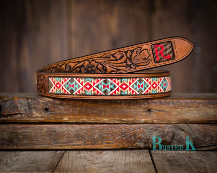 Busted K brand beaded inlay style belts.