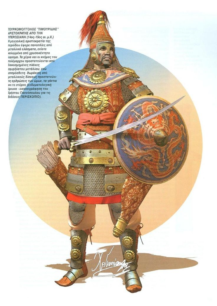 Turcomongol noble Timurid warrior, XIV-XV c.