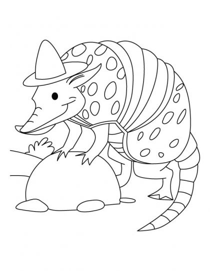 Armadillo the SPY coloring pages