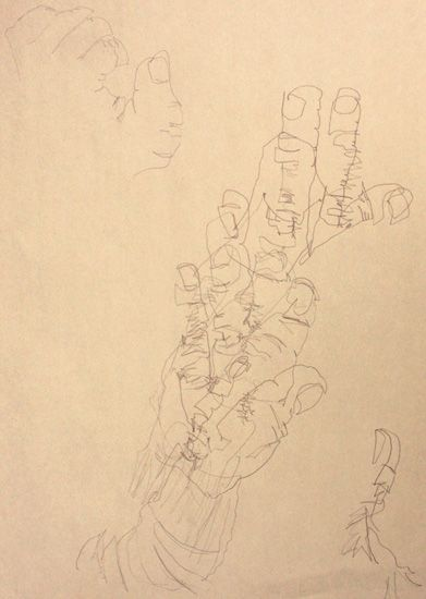Blind Contour Line Drawing Hand : Best blind contour drawing images on pinterest