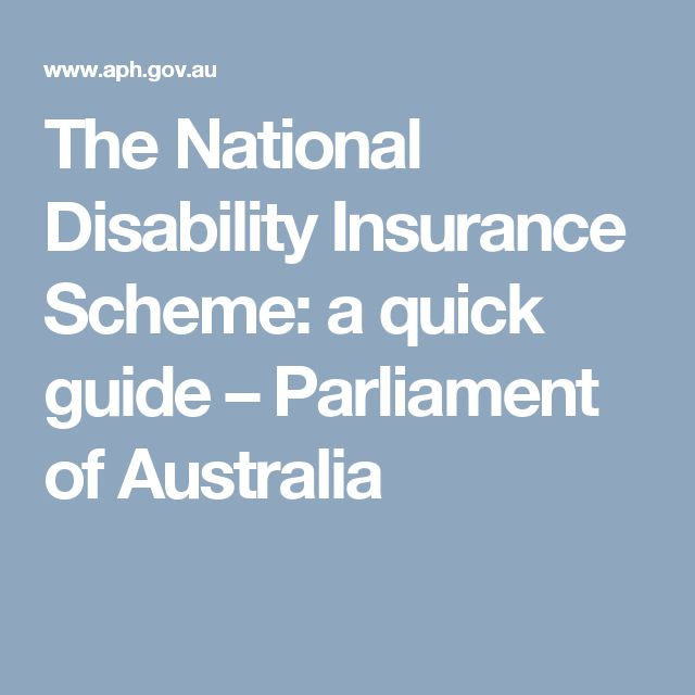 The National Disability Insurance Scheme: a quick guide – Parliament of Australia