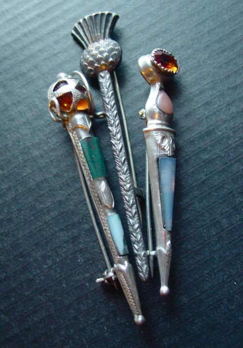 Collection of antique Scottish Kilt Pins.