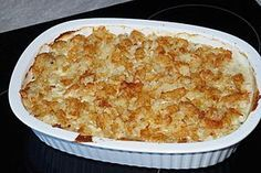 Putenschnitzel in Käse - Lauch - Sauce mit Rösti überbacken 6