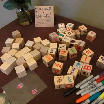 ABC Blocks Baby Shower Game