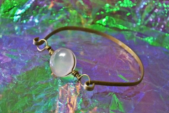 Beautiful hand made Real Rose Quartz Bracelet. Stainless Brass