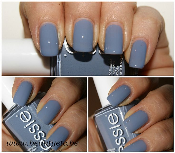 Essie: truth or flare- such a pretty, dusty grayish blue cream- no streaking, and decent wear time.