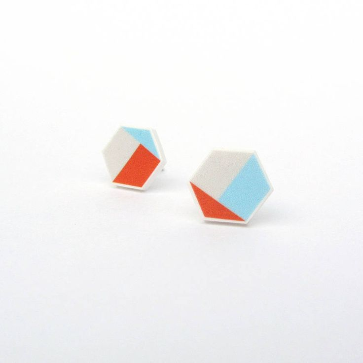 pigeometry hexagon earrings by lovely pigeon | notonthehighstreet.com