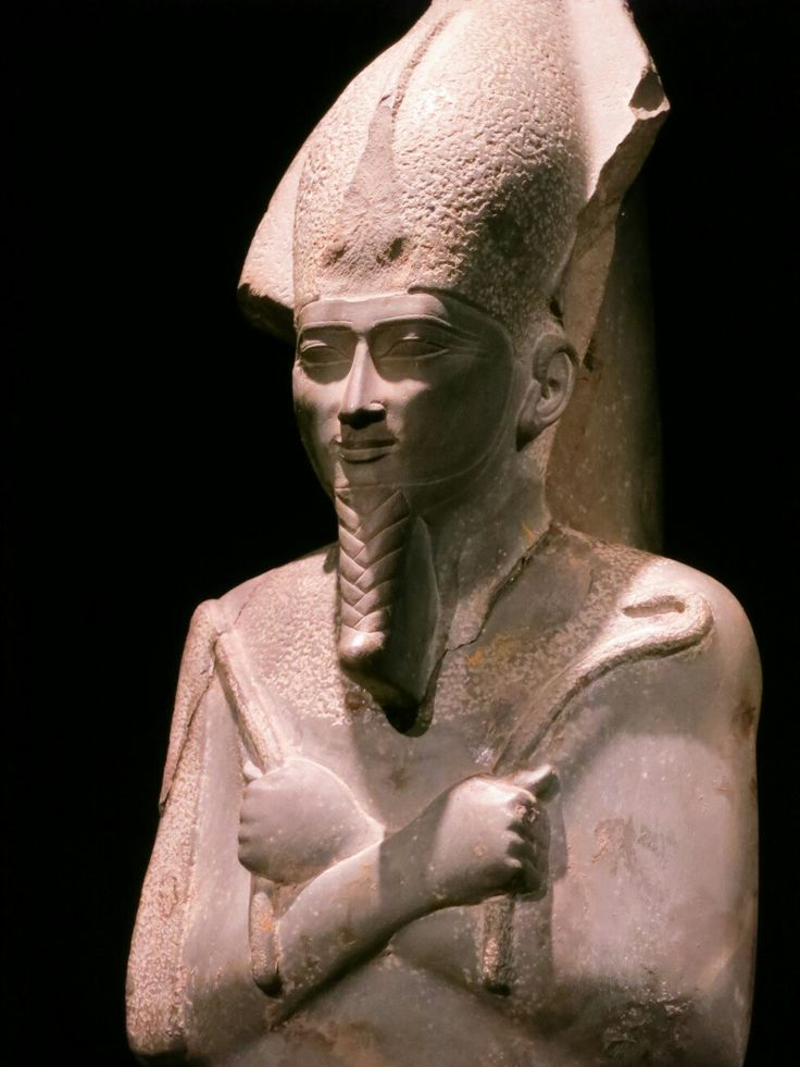 When they got tired of damaging the noses and mutilating Ancient Egyptian statues,they decided to create complete new ones,Fake Caucasian looking ones.