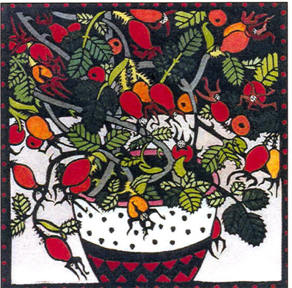 Briar Berries by Kit Hiller - printmaker - Tasmanian artist. I love her work and really hope I can buy a picture one day!