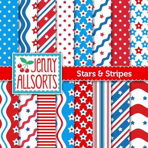 Stars and Stripes Digital Scrapbooking by JennyAllsortsDesign