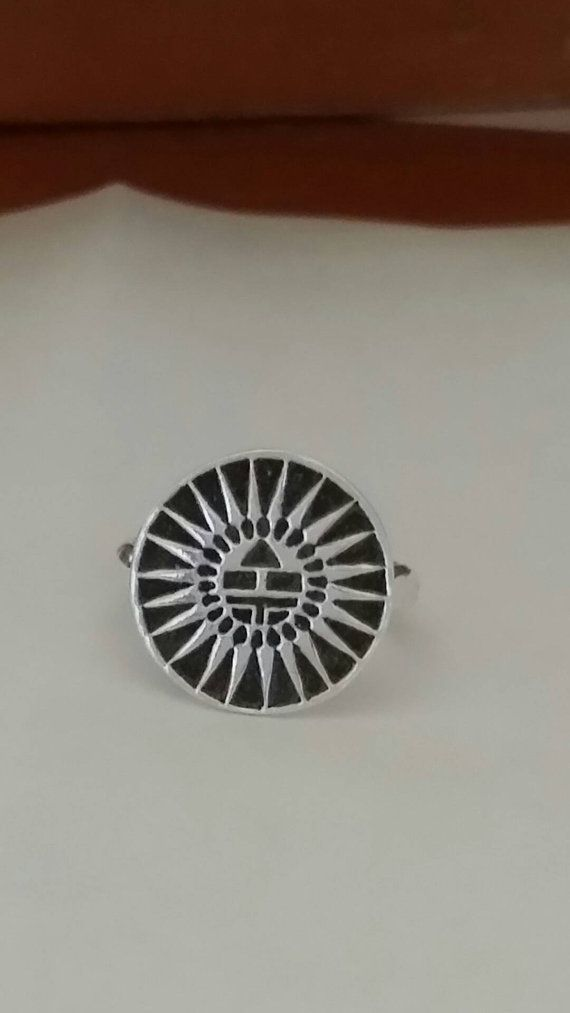 Check out this item in my Etsy shop https://www.etsy.com/listing/467001457/sterling-silver-jewelry-aztec-ring