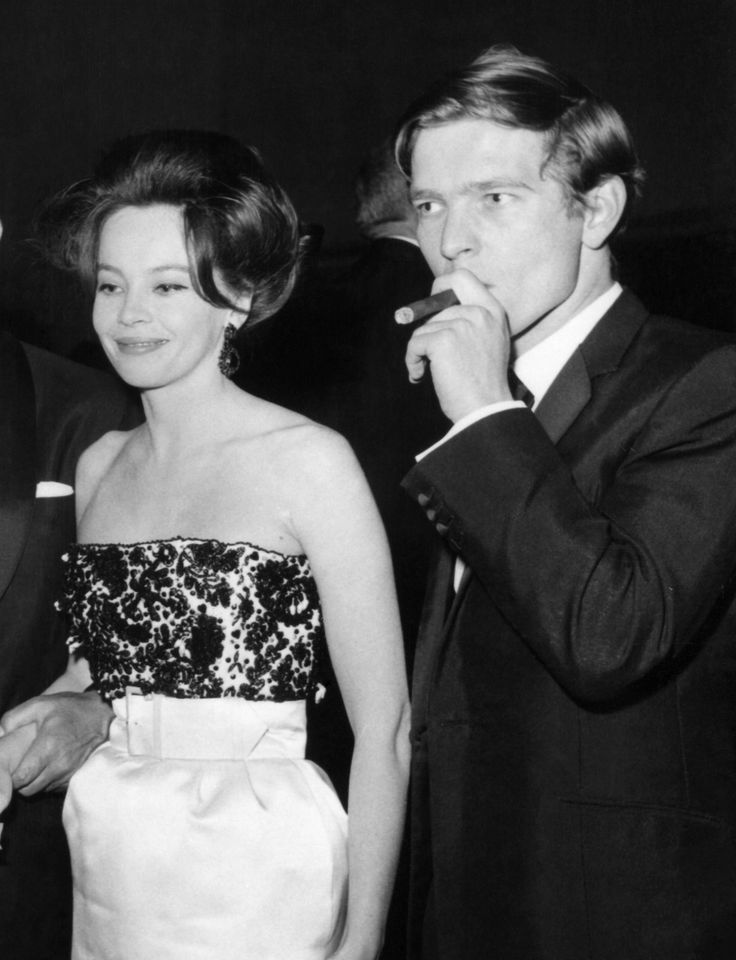 "French actress Leslie Caron, Best Actress Award for ""The L-Shaped Room"" and English actor Tom Courtenay, most promising newcomer for his role in ""The Loneliness of the Long Distance Runner"" at the British Film Academy Awards Dinner at London's Hilton Hotel. May 1963."