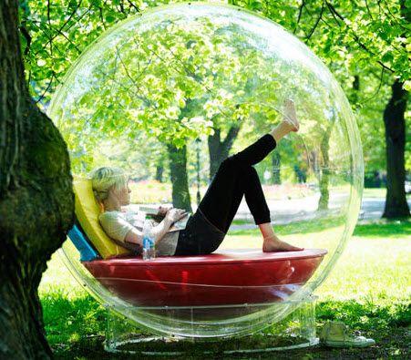 Personal Bubble (http://blog.hgtv.com/design/2013/09/11/daily-delight-personal-bubble/?soc=pinterest)