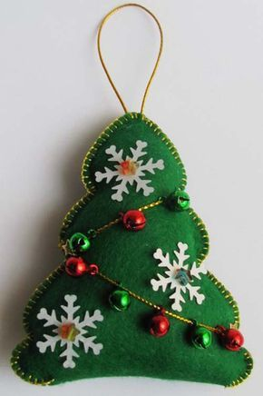 Moldes para hacer arbolitos de navidad en fieltro