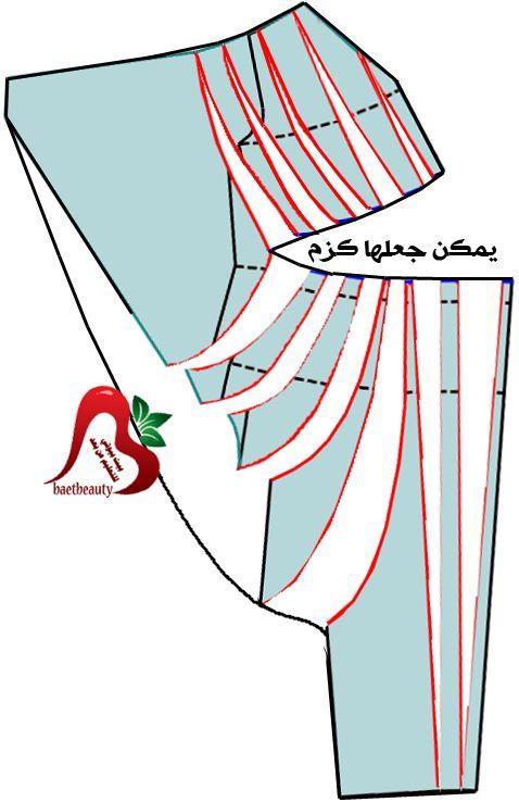 طلب مساعدة في تشريح فستان - اكاديمية بنت مفيد لتعليم الخياطة وتصميم الازياء والمهارات