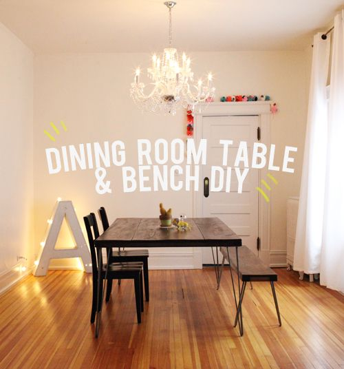 Build your dream dining room table and bench for under $150! This is an easy DIY dining room table and bench tutorial.