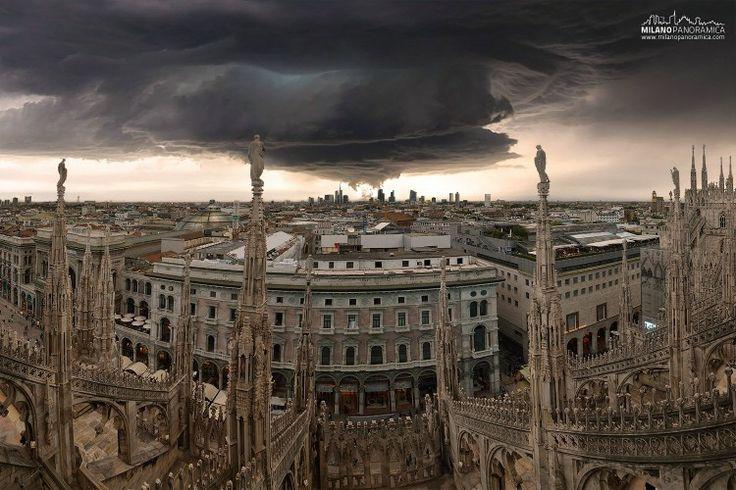 Milano Panoramica dal duomo verso nord