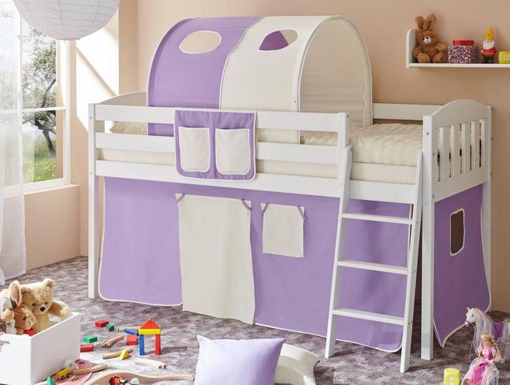 Kinderzimmer Lila Beige kinderzimmer mit dachschrge mdchen lila beige fenster Ticaa Hochbett Eric V Kiefer Wei Lila Beige Jetzt Bestellen Unter Https