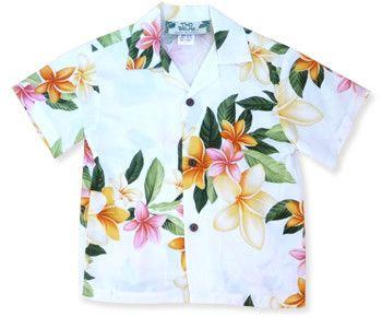 rain hawaiian boy shirt
