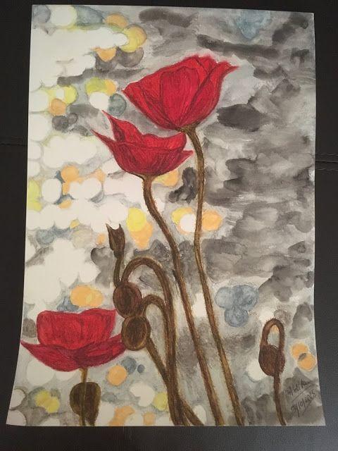 Organic Paint Brush: Poppies