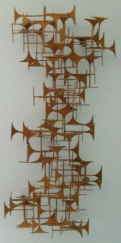Brutalist wall sculpture