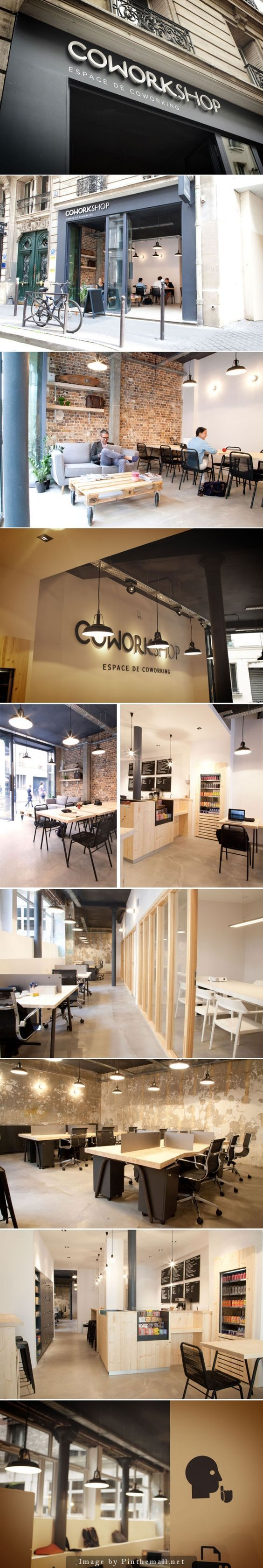 COWORKSHOP co-working space in Paris. Superb.:                                                                                                                                                                                 More