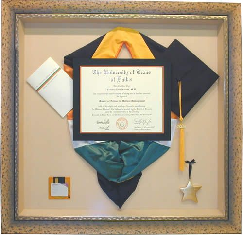 Diploma shadow box...For my masters?! Great way to show off hood!