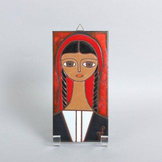 Art Tile Panos Valsamakis Greek Artist Vintage by ThePapers, $165.00