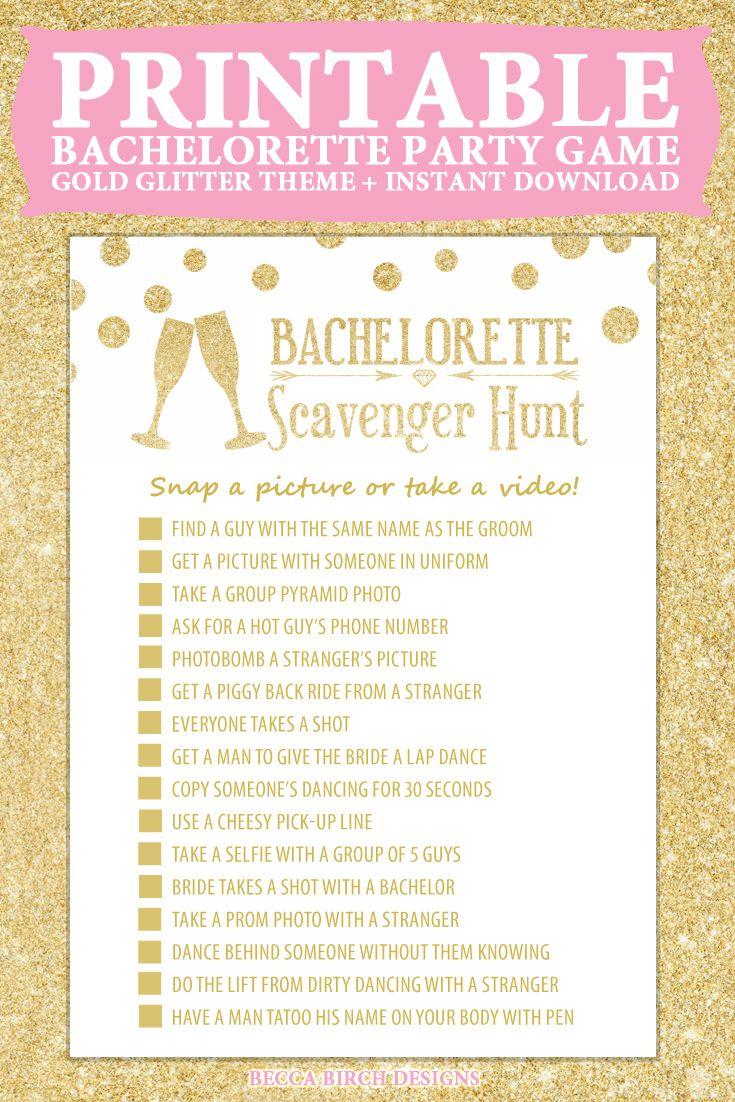 Bachelorette Scavenger Hunt - Nashlorette - Hen Night ...