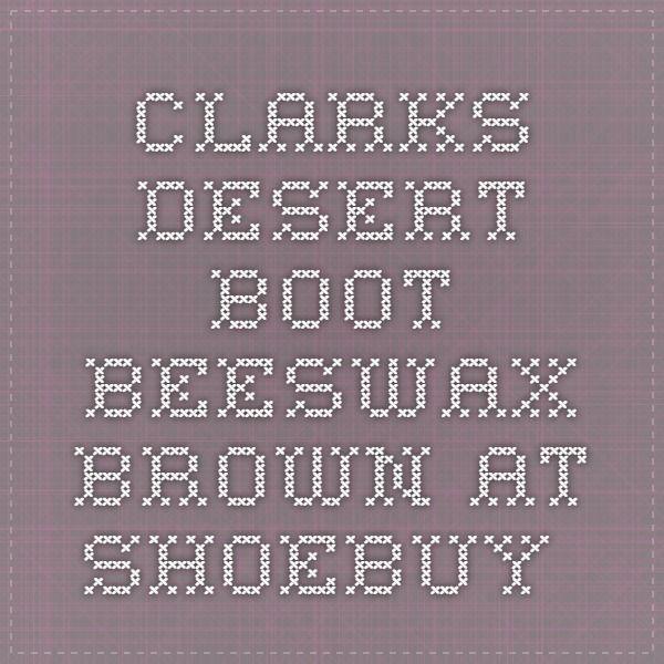 clarks desert boot beeswax brown at shoebuy