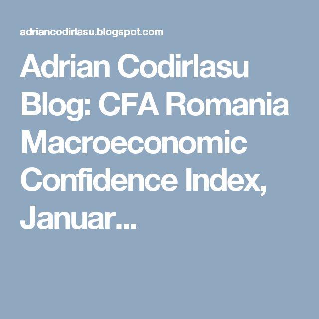 Adrian Codirlasu Blog: CFA Romania Macroeconomic Confidence Index, Januar...