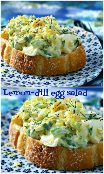 Lemon-dill egg salad, a new summer favorite.