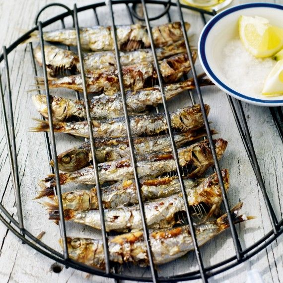 Chargrilled sardines with lemon and sea salt recipe. Don't forget fish on your barbecue with this fantastic recipe #sardines #barbecuefish