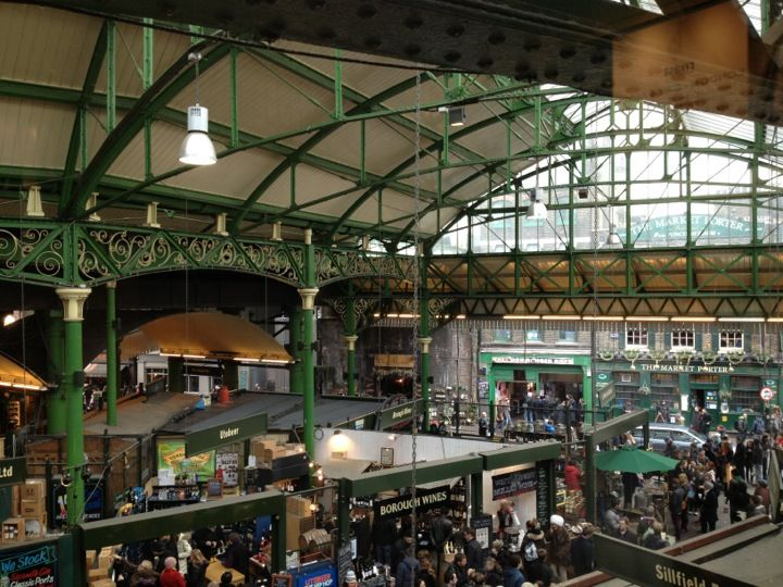 Once you have your coffee of choice, wonder around the yummy food stalls of Borough Market in London, Greater London