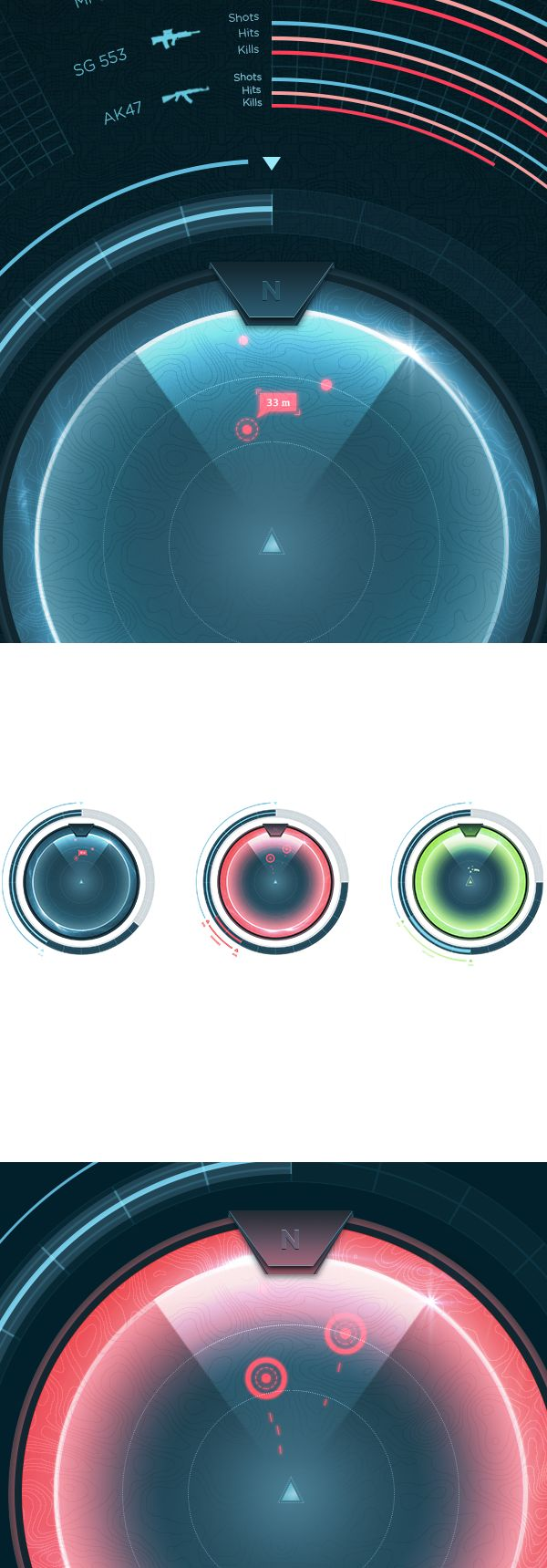 Game Interface 1 by Ammar Z., via Behance